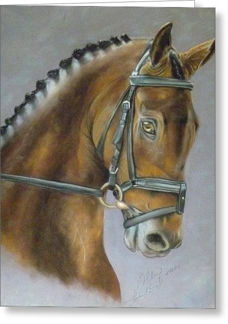 Becky Pastels Greeting Cards - Call Me Ollie Greeting Card by Linda Kriegel