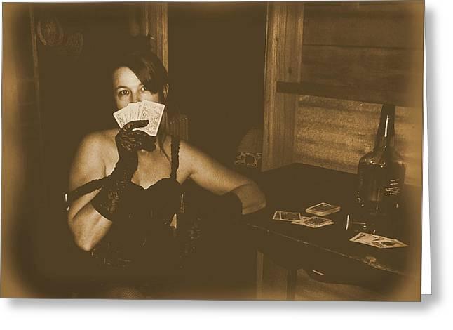 Hurdy-gurdy Greeting Cards - Call My Bluff Greeting Card by Cindy Nunn