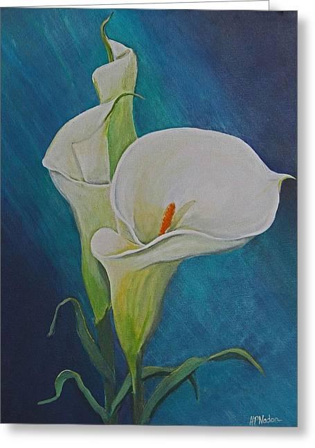 Heidi Patricio-nadon Greeting Cards - Calla Lilies Greeting Card by Heidi Patricio-Nadon