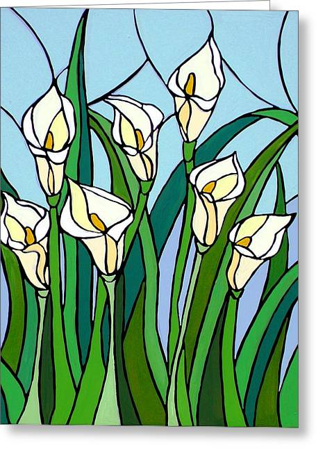 Calla Lilies Greeting Card by JW DeBrock