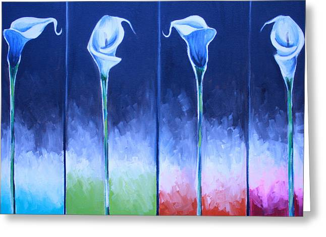 Calla Lily Greeting Cards - Calla Lilies Greeting Card by Mikayla Henderson