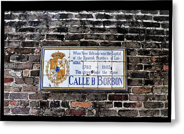 Calle D Borbon Greeting Card by Bill Cannon