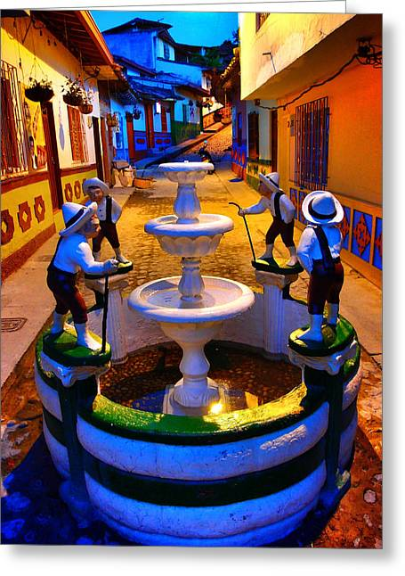 Calle Del Recuerdo Greeting Card by Skip Hunt