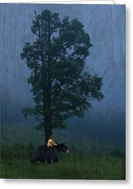 Surreal Landscape Greeting Cards - Callisto And Arcas Greeting Card by Ron Jones