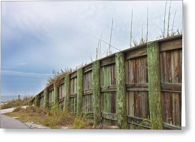 Fence Line Greeting Cards - Calm Before the Storm Greeting Card by Betsy C  Knapp