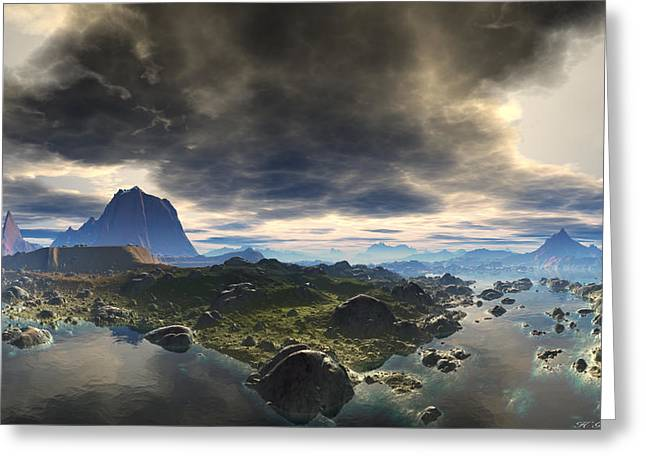 Photorealistic Greeting Cards - Calm Before The Storm Greeting Card by Heinz G Mielke