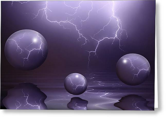 Lightning Strike Greeting Cards - Calm Before The Storm Greeting Card by Shane Bechler