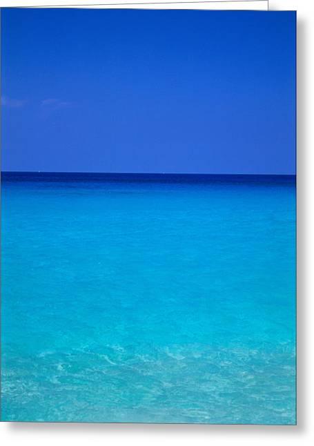 Ocean Art Photos Greeting Cards - Calm Ocean Sky Greeting Card by Greg Vaughn - Printscapes