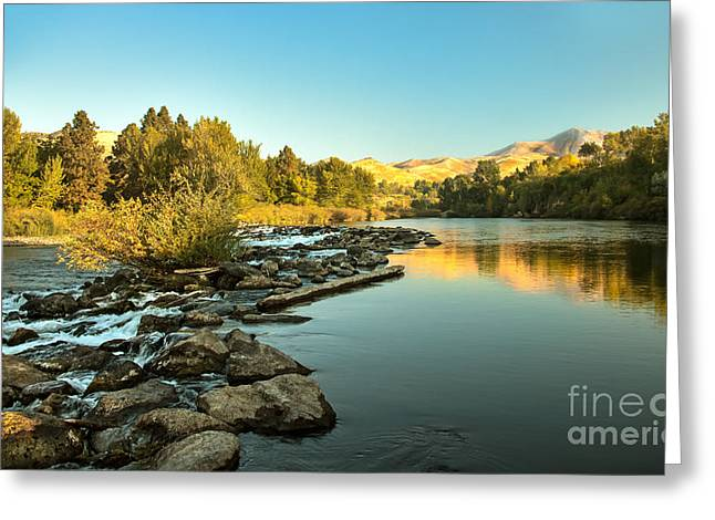 Idaho Photography Greeting Cards - Calm Payette Greeting Card by Robert Bales