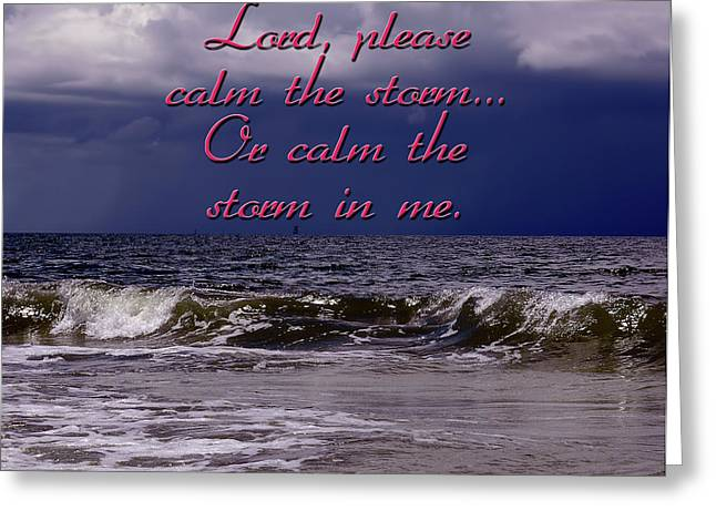 Calm The Storm  Greeting Card by Carolyn Marshall