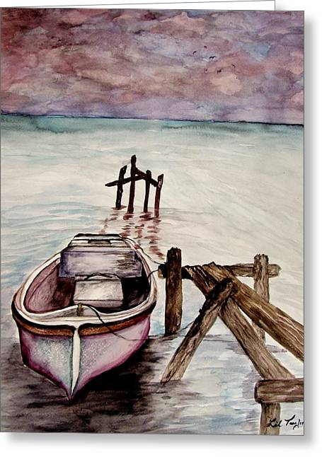 Grey Clouds Greeting Cards - Calm Waters Greeting Card by Lil Taylor