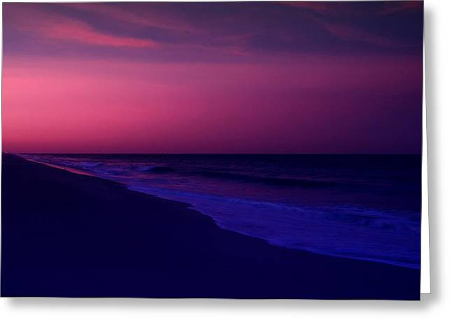 Beach Scenery Greeting Cards - Calming Conclusion - Jersey Shore Greeting Card by Angie Tirado