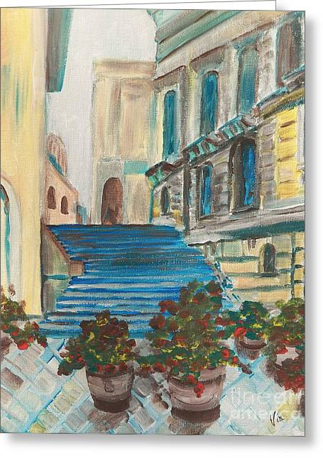 Caltanissetta  Greeting Card by Judy Via-Wolff