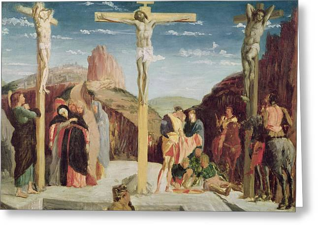Degas; Edgar (1834-1917) Greeting Cards - Calvary Greeting Card by Andrea Mantegna