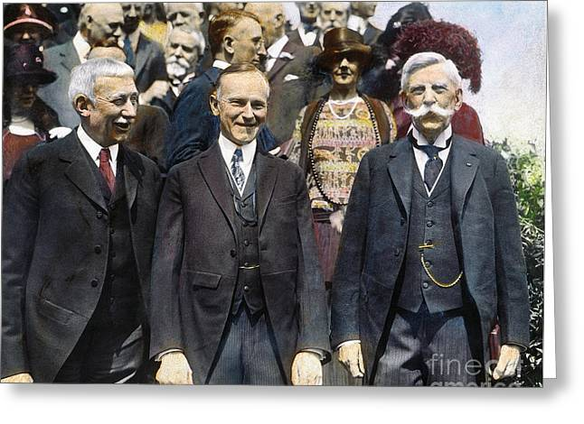 Chief Justice Greeting Cards - CALVIN COOLIDGE, 1920s Greeting Card by Granger
