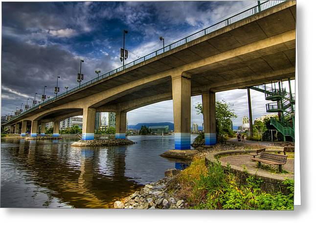 Cambie Bridge Greeting Cards - Cambie Bridge Greeting Card by Viktor Lakics
