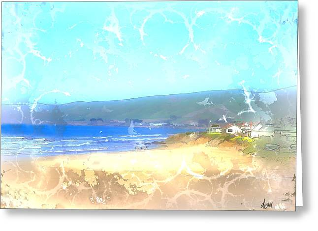 Cambria Greeting Cards - Cambria On The Pacific Greeting Card by Arline Wagner