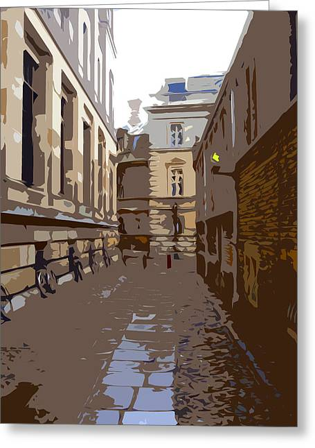 Cambridge Greeting Card by Roberto Alamino