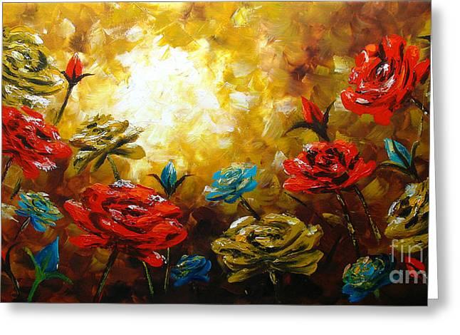 Camellias Greeting Card by Uma Devi