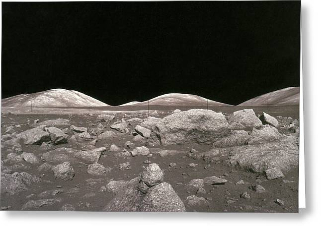 Camelot Photographs Greeting Cards - Camelot Crater On Moon, Apollo 17 Greeting Card by Science Source