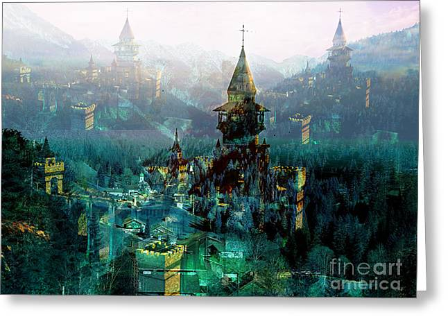 Camelot Mixed Media Greeting Cards - Camelot Greeting Card by Tammera Malicki-Wong