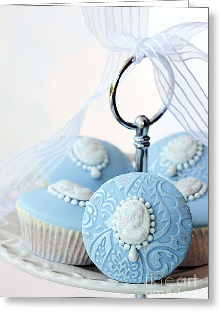 Frosting Greeting Cards - Cameo cupcakes Greeting Card by Ruth Black