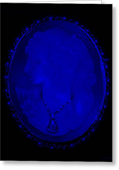 Cameo In Blue Greeting Card by Rob Hans