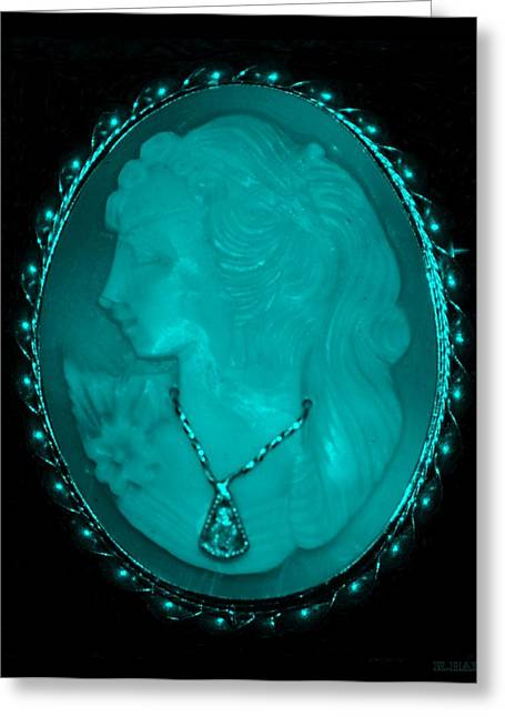 Natral Greeting Cards - CAMEO in TURQUOIS Greeting Card by Rob Hans