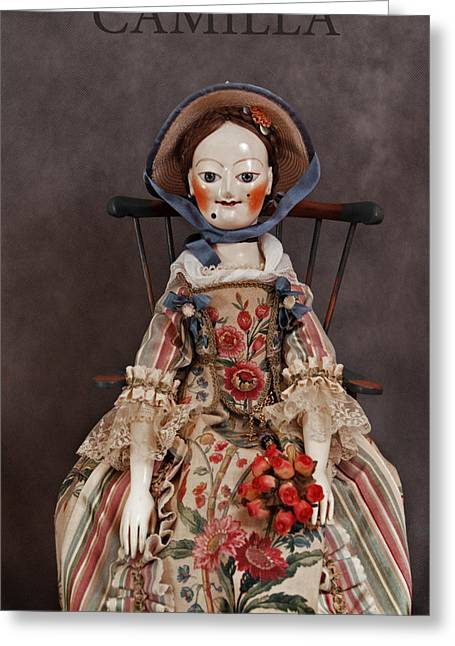 Doll Sculptures Greeting Cards - Camilla Greeting Card by Vita Soyka