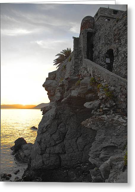 Camogli Greeting Cards - Camogli Pirate Fort Greeting Card by Istrati Lilian