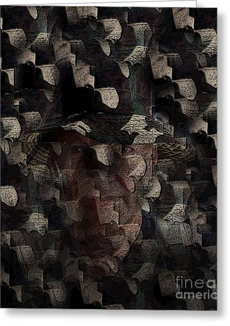 Camouflage Greeting Card by Al Bourassa