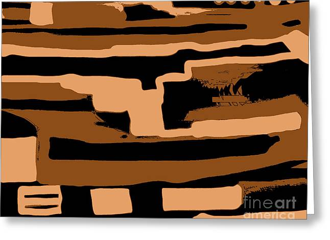 Paint It Greeting Cards - Camouflage Design Greeting Card by Marsha Heiken