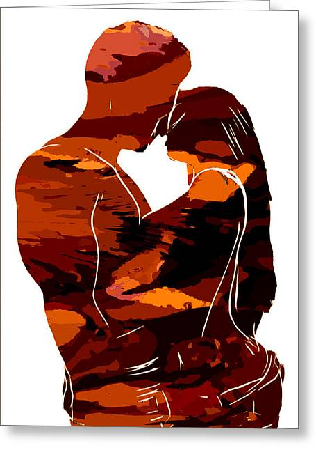 Abstract Digital Paintings Greeting Cards - Camouflage Lovers Greeting Card by Stefan Kuhn