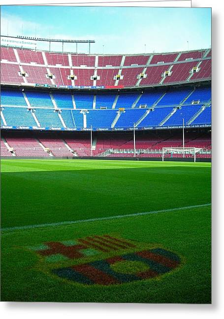 Architektur Greeting Cards - Camp Nou - Barcelona Greeting Card by Juergen Weiss