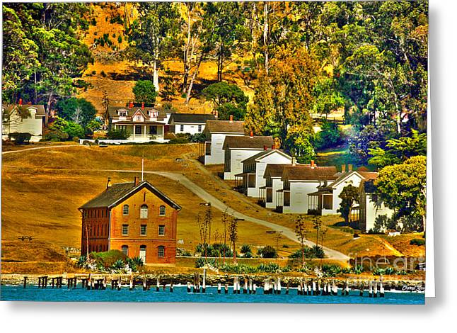 Officers Quarters Greeting Cards - Camp Reynolds Angel Island Greeting Card by Cheryl Young