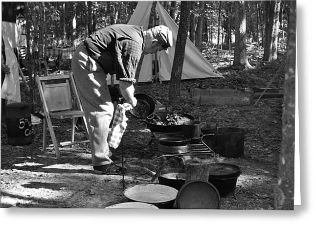 Camp Site Greeting Card by Tammy Price