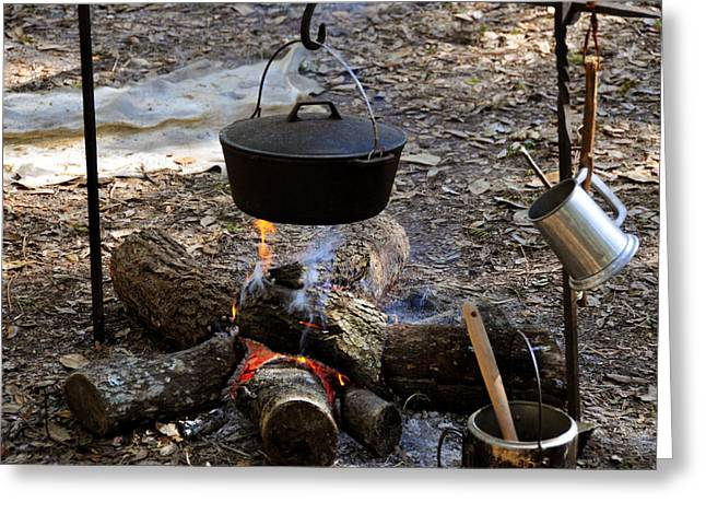 Campfire cooking Greeting Card by David Lee Thompson