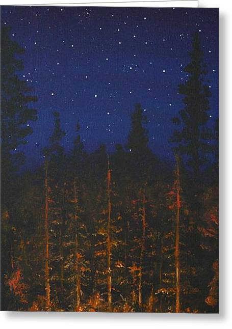 Camping Greeting Cards - Camping in the Nothwest Greeting Card by Jennifer Lynch