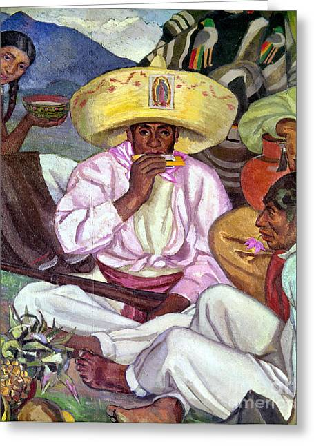 Mesoamerica Greeting Cards - Camping Zapatistas, 1922 Greeting Card by Granger