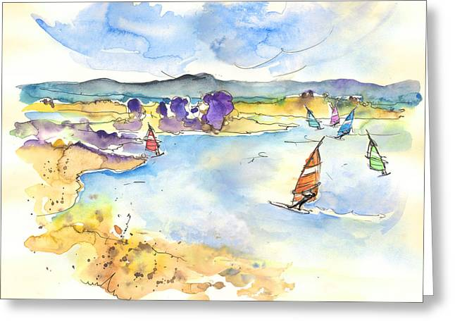 Surfing Art Drawings Greeting Cards - Campo Maior in Portugal 04 Greeting Card by Miki De Goodaboom