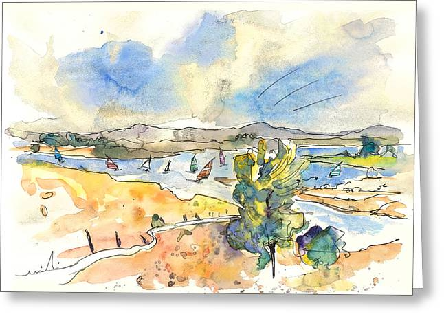 Surfing Art Drawings Greeting Cards - Campo Maior in Portugal 05 Greeting Card by Miki De Goodaboom