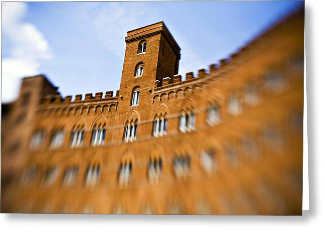 Sienna Italy Photographs Greeting Cards - Campo of Siena tuscany Italy Greeting Card by Marilyn Hunt