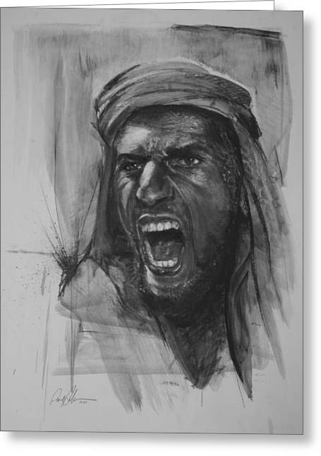 Paul Autodore Art Drawings Greeting Cards - Can Anyone Speak Pashto Greeting Card by Paul Autodore