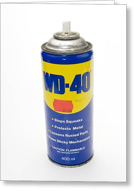 Lubricant Greeting Cards - Can Of Wd-40 Oil Greeting Card by Photostock-israel