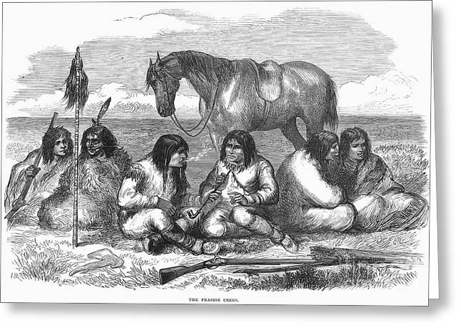 Cree Greeting Cards - Canada: Cree Native Americans, 1870 Greeting Card by Granger