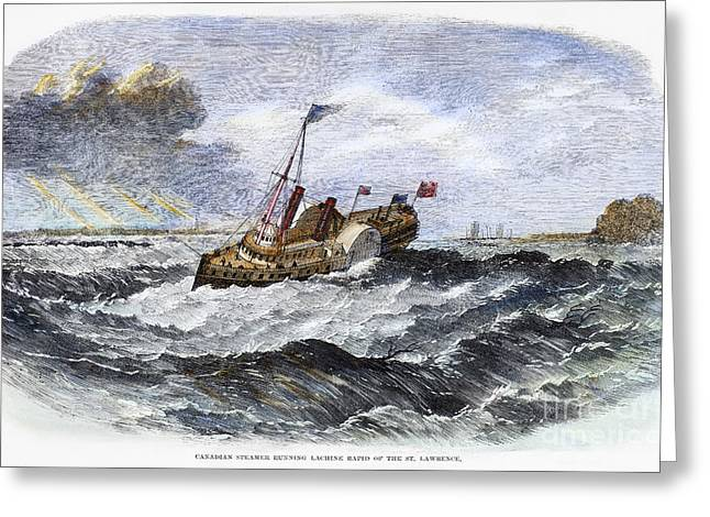 Steamboat Greeting Cards - Canada: Steamboat, 1863 Greeting Card by Granger