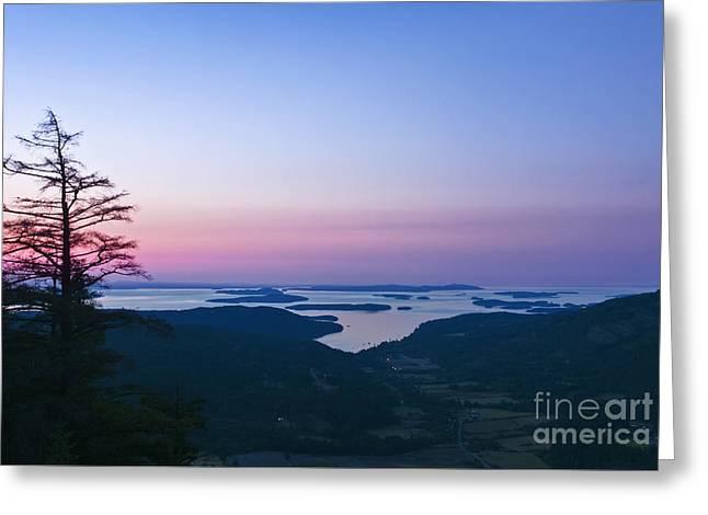 Bc Coast Greeting Cards - Canadaian Gulf Islands at Dawn Greeting Card by Rob Tilley