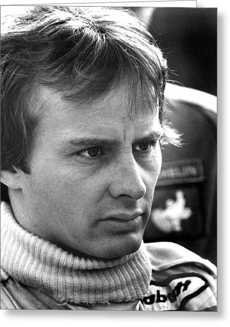 Canadian Grand Prix Greeting Cards - Canadian Gilles Villeneuve Greeting Card by Mike Flynn