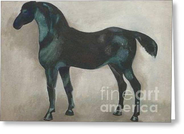 Canadian Heritage Paintings Greeting Cards - Canadian Heritage Horse 11 Greeting Card by Catherine Meyers