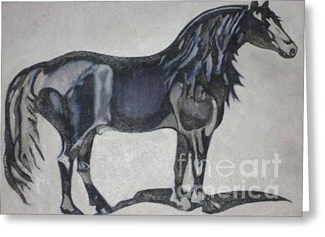 Canadian Heritage Paintings Greeting Cards - Canadian Heritage Horse Greeting Card by Catherine Meyers